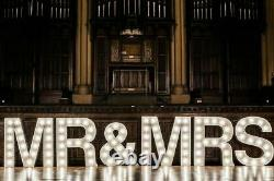 Mr And Mrs Giant 4ft Light Up Letters Wedding Hire Hull / Yorkshire area