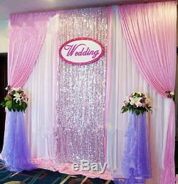 NEW Wedding stage background decoration welcome curtains Reception backdrop swag