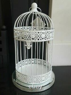 Package of 8 XL White Wedding Birdcages candle Holders Centrepiece HUGE SAVINGS