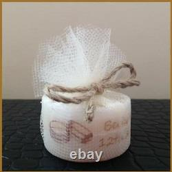 Personalised Vintage Style Tealight Candles Wedding Favours (Set of 100)