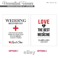 Personalised Wedding Favour Bomboniere Gift Survival Hangover Kits for Guests