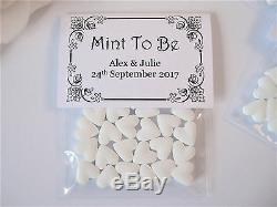 Personalised Wedding Favour Mint To Be Mint Heart Sweets b
