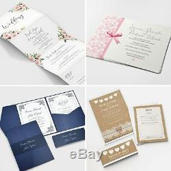 Personalised Wedding Invitations Invites RSVP Cards Day/Evening FREE Envelopes