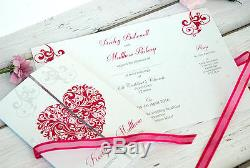 Personalised Wedding Invitations Or Evening Invites with Envelopes & Free Proof