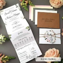 Personalised Wedding Invitations Or Evening Reception Invites With Envelopes