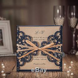 Printing Personalized Wedding Invitations Cards & Envelopes & Seals With Ribbon