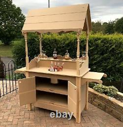 Prosecco/champagne cart style bar stand with glass holder and 12litre ice bucket