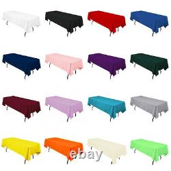 Rectangular Seamless Tablecloth For Hotel Restaurant Wedding Banquet Party