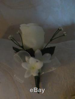 Rose cascade Bridal Bouquet & Wedding Pkg. Red Black White Roses or Your Colors