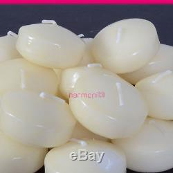 Round Floating Candle Disc Floater Candles Wedding Party Home Decor Ivory 50 PCS