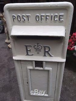 Royal Mail Post Box White Wedding Post Box Silver Letters Cast Iron