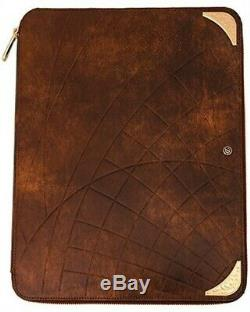 S. T. Dupont Conference Pad Shoot The Moon Brown Leather and Yellow Gold 181031