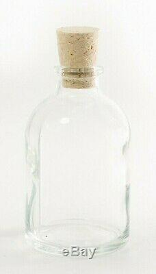 Sample, 50-150 Wedding Favours Bottles, 50ml Clear Glass with Natural Corks
