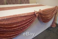 Sequin Chair Sashes Table Runners, Hoods, Table Swag, Cloths, Drapes available