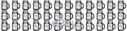 Set of 144 Bridal Wedding Mason Jars with Handles Embossed- County Fair 12 Cases