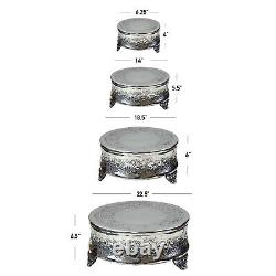 Set of 4 Round Wedding Cake Stand 22 by 18 by 14 by 6-inch