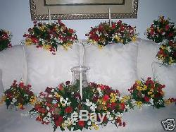 Silk Flower Globe 3 Pc. Set for Weddings, Reception or Home Table Decorations