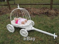 Small Angel Carriage in Gloss White or Ivory, for Babes & Toddlers