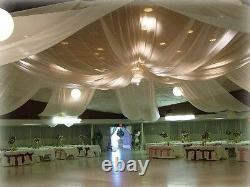 Special package Wedding ceiling backdrop drapes package 12ft /4pcs