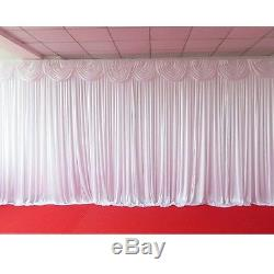 Starlight Wedding Backdrop Curtains With Swag With Led Lights 3x6m