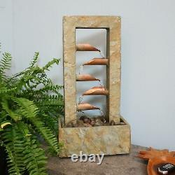 Sunnydaze 5-Tier Copper and Slate Indoor Tabletop Water Fountain Feature 19