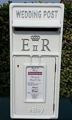 Ultimate Luxury Personalised Post office, Wedding Post box NOT FIBRE GLASS