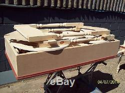 Unpainted Wedding Sweet Candy Cart/ BARROW with shelf and MDF Roof Folds Away