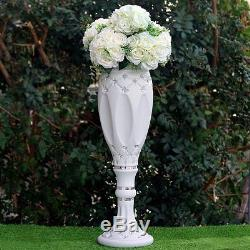 WEDDING COLUMNS 30 White with Crystal Beads Wedding Party Decorations WHOLESALE