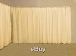 WHITE or CREAM BACKDROP Ready Made for WEDDING EVENT PARTY VENUE PHOTO Shoot