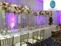 WeddingGeneral's Gold Tall Metal Flower Arch Bridge Arch For Table Centerpiece