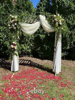 Wedding Arch Arbor And White Drape Cloth Entrance/Alter Decoration Outdoor