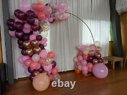 Wedding Arch Frame Metal Garland Flower Backdrop Stand Moon Gate Events Party