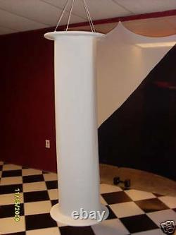 Wedding Column, Lighted Pillars, 6-8 Ft, Washable Fabric, White, Venue, Stage