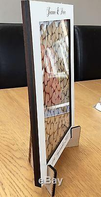 Wedding Drop Box Personalised Complete Package, 100, 80 or 70 hearts