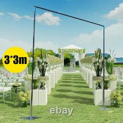 Wedding Party Backdrop Stand Pipe Kit Curtain Frame Telescopic Pipe 3x3M/10x10ft