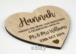 Wedding Place Cards Table Name Settings Wooden Personalised Thank You Favours