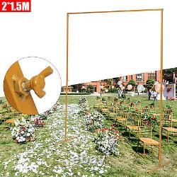 Wedding Rectangle Arch Backdrop Metal Stand Flower Balloon Frame Party Decoratio