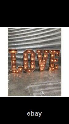 Wedding love letters 4ft tall vintage wedding rustic handmade letters FOR HIRE