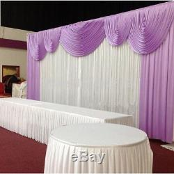 Wedding stage decorations backdrop party drapes with swag silk fabric curtain