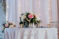 Wedding table numbers gold frame