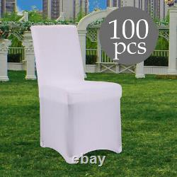 White Spandex Chair Covers Wedding Chair Covers Seat Chairs Universal 50/100 Pcs