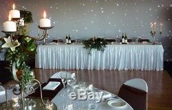 White Starlight Curtain, LED Backdrop, LED Star Cloth with Detachable Swag