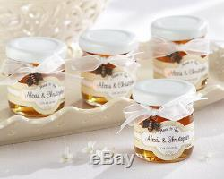 108 Meant To Bee Honey Personnalisée Faveurs De Mariage Jars Withbow & Bee Charm
