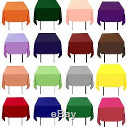 10 Pack 72 X 72 Carrés Superpositions 23 Couleurs Nappes 100% Polyester Mariage