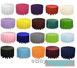 10 Pieces 120 Pouces Nappe Ronde 100% Polyester Overlay 8 Couleurs Tableau 5 Pi