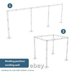 10ft 4 Post Heavy Duty Wedding Backdrop Stage Stand Outdoor Canopy Tent Chuppah