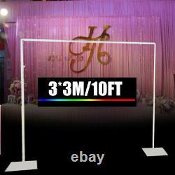 10ft Iron Backdrop Support Stand Curtain Frame For Wedding Backdrop Photo Studio