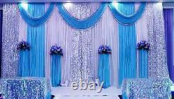 10x10ft Pleated Wedding Background Curtain Background Décor Sparkly Sequin Swag Ht