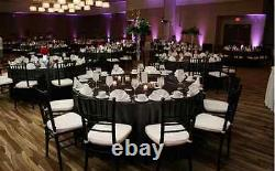 12 Round Black 120 Inch Polyester Nappes 5' Pieds Table Cover Quality USA