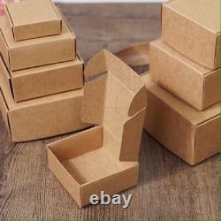 200 Kraft Paper Product Packaging Boxes Party Wedding Favor Cookie 10.4x5.7x3cm